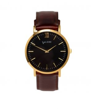 Primus Gold with Brown Leather Strap