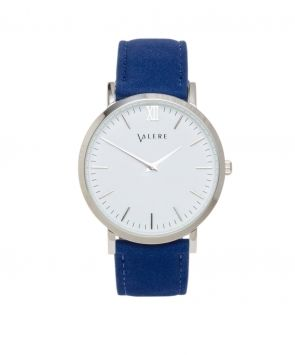 Primus Silver with Blue Suede Strap