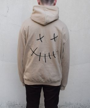 SMILEY FACE HOODIE (TAN)