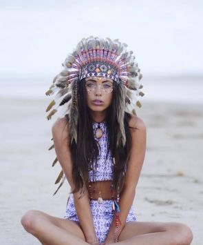 Embellished Indian Headdress
