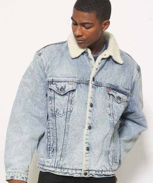 Vintage Levis Sherpa Denim Jacket