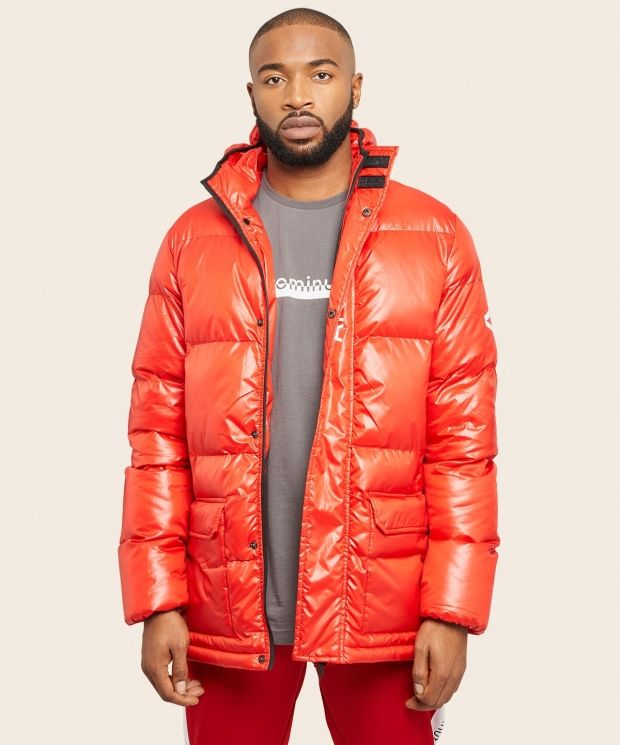 Arcminute Puffer Jacket Red