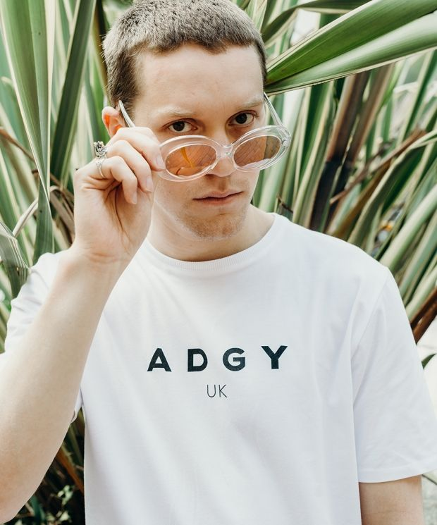 Unisex White ADGY Originals T-Shirt