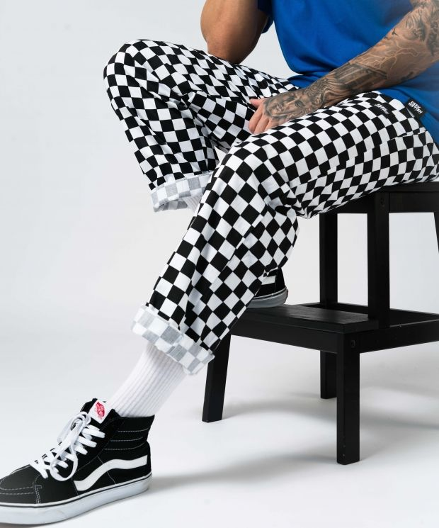 Checkered Cozy Chef Trousers