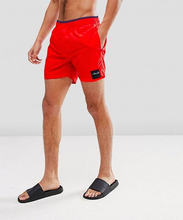 Trim Swim Shorts - Royal Red