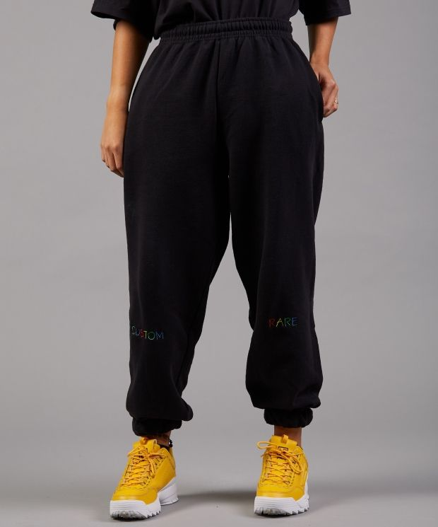 With Flying Colours Black Joggers
