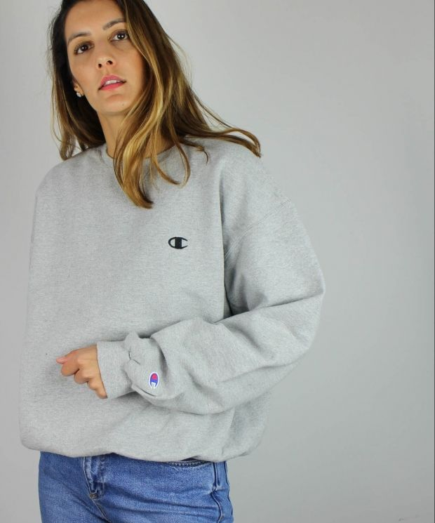 Vintage Champion Sweatshirt with Logo Front & Sleeve 4425069