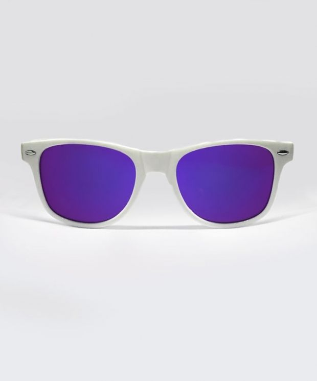 KRAVITZ Wayfarer Sunglasses - White/Purple