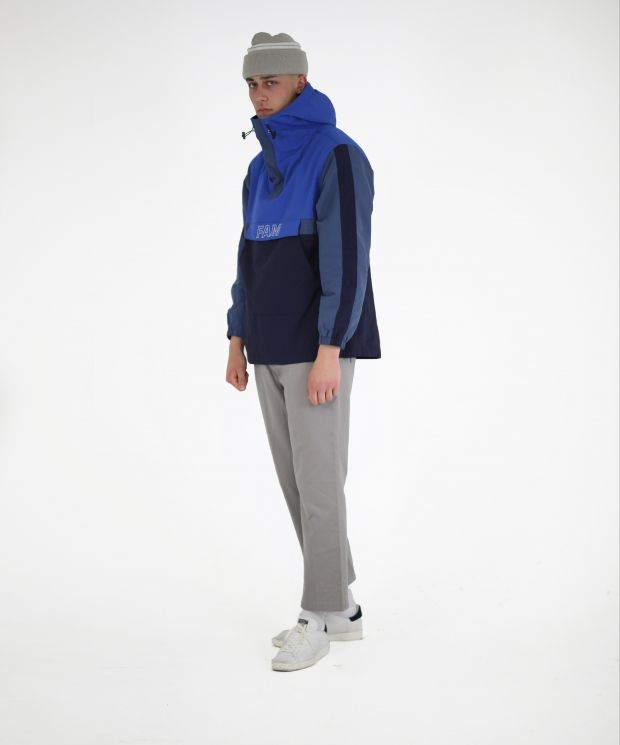 FAM Panelled Anorak Blue