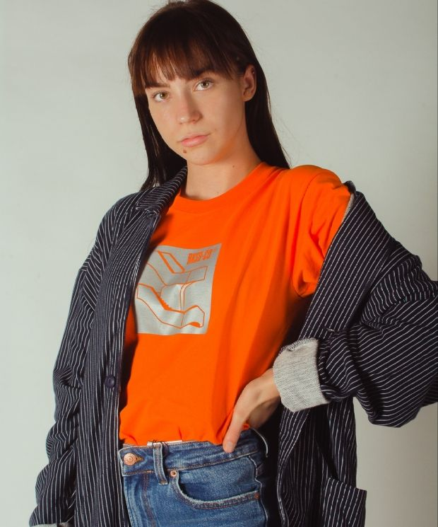 Staircase Reflective T-shirt Orange