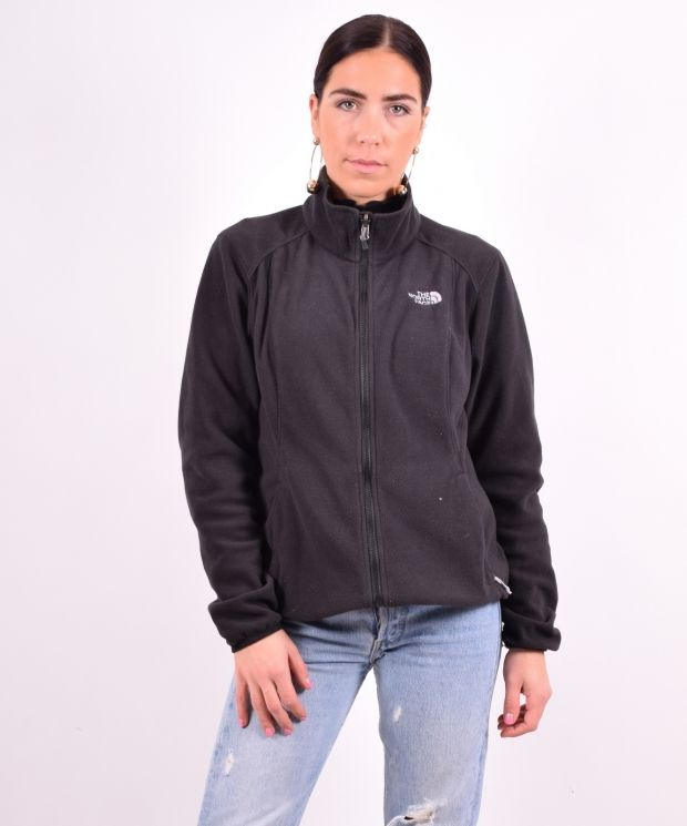 The North Face Womens Vintage Fleece Jacket Medium Black 90's
