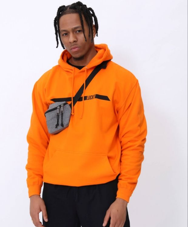 The Lucky Club Racer Hoody in Orange