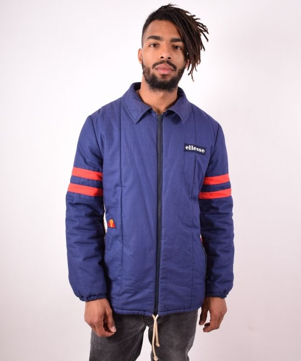 Ellesse Mens Vintage Jacket Medium Blue 90s