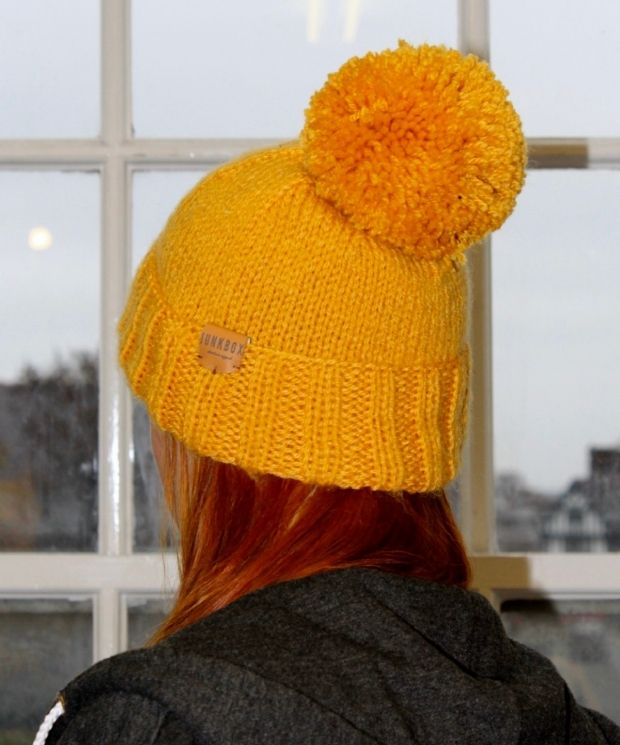 Bobble Hat in Mustard