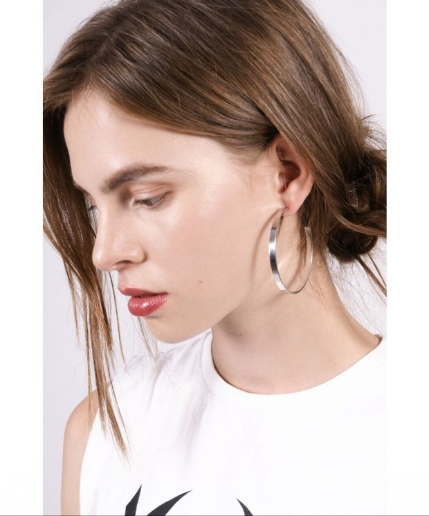 Large Open Hoop Earrings