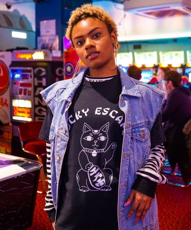 Lucky Escape T-shirt in Black