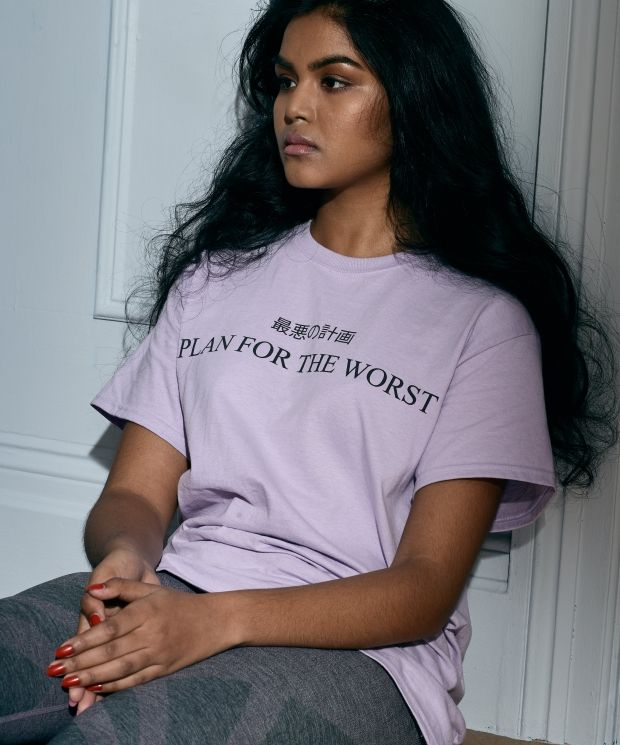 Plan For The Worst T-shirt in Lilac