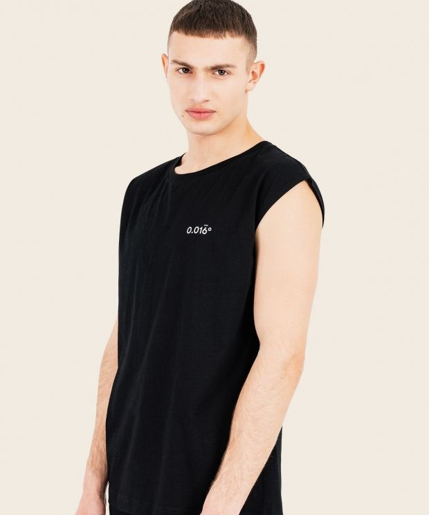 Light Cut Off T-Shirt Black With Arcminute Logo
