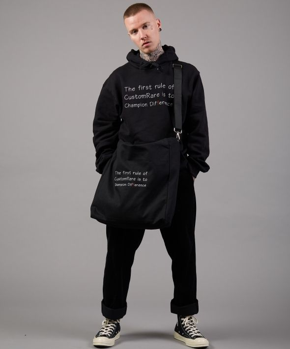 Difference Class Black Logo Tote Bag