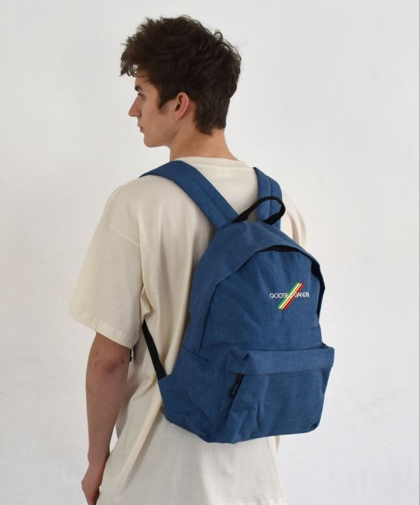 Denim Blue G&G Unisex Original Multi Lines Rucksack