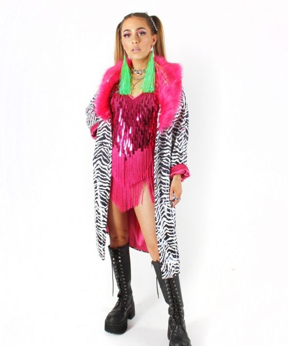 Le Freak Sequin Reversible Zebra Jacket