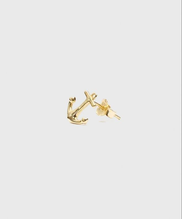 Gold Anchor Stud
