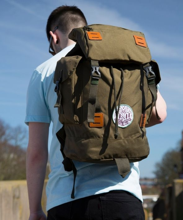 Wanderlust UNISEX Khaki explorer Backpack