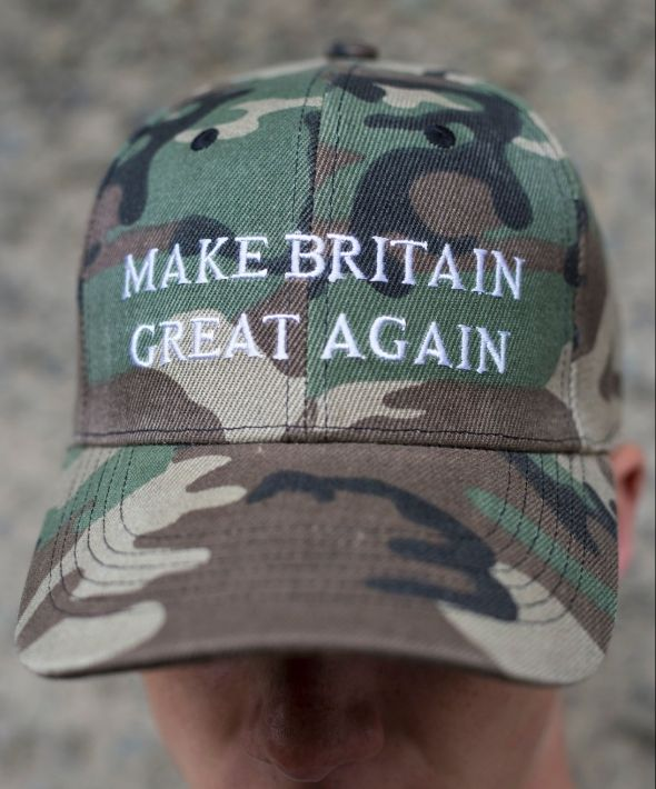 Demos camo embroidered make britain great again cap