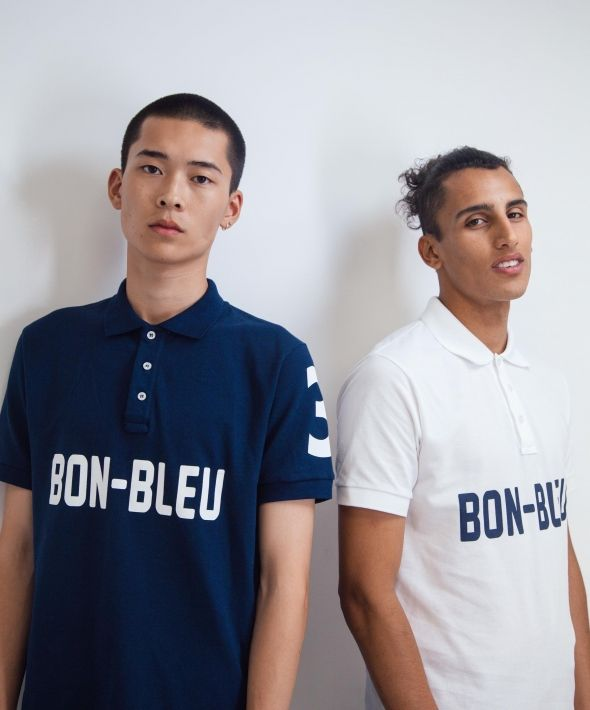 Polo top - White X Navy