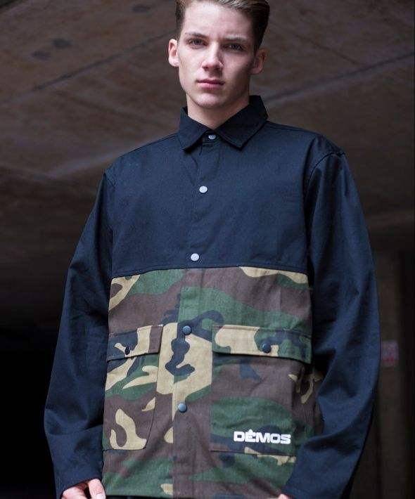 Demos Black Camo 1945 cotton twill shirt