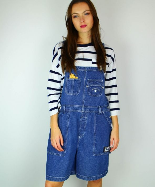 Vintage Winnie The Pooh Denim All In One Dungarees 4048400