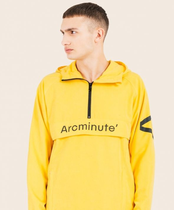 Solar Kagoule Yellow With Arcminute Logo