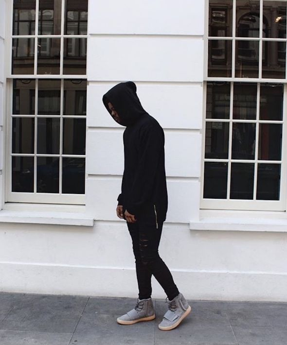 Oversized Hoodie With Zippers - Black