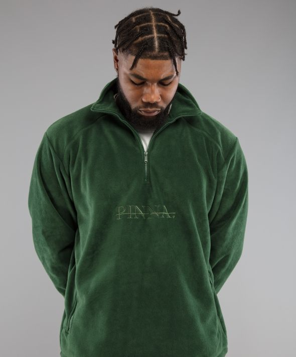 PINNA Embroidered Fleece - Forest Green