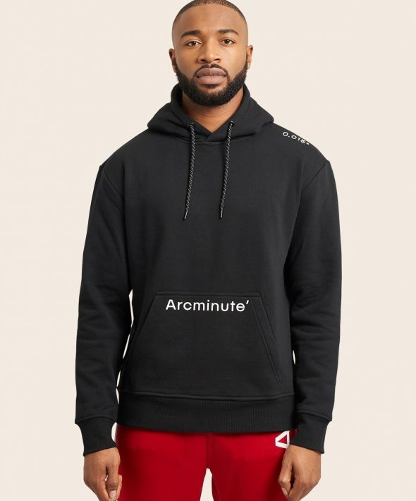 Arcminute Hoodie With Front Logo  Black