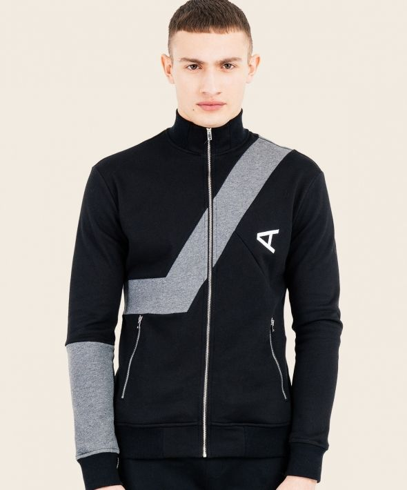 Magnitude Track Top Black Grey With Arcminute Logo