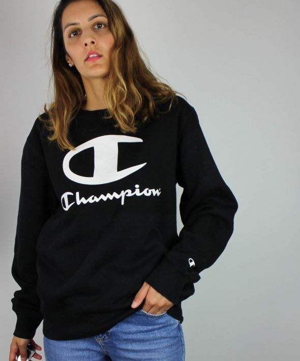 Vintage Champion Sweatshirt with Logo Front & Sleeve 4373578