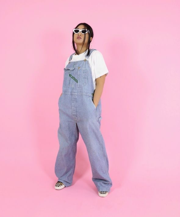 Vintage Long Denim Dungarees / Overalls