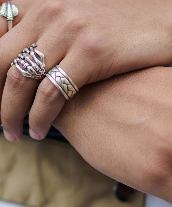 Silver Woven Ring