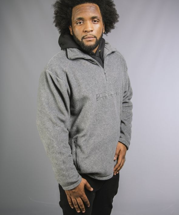 PINNA Embroidered Fleece - Grey