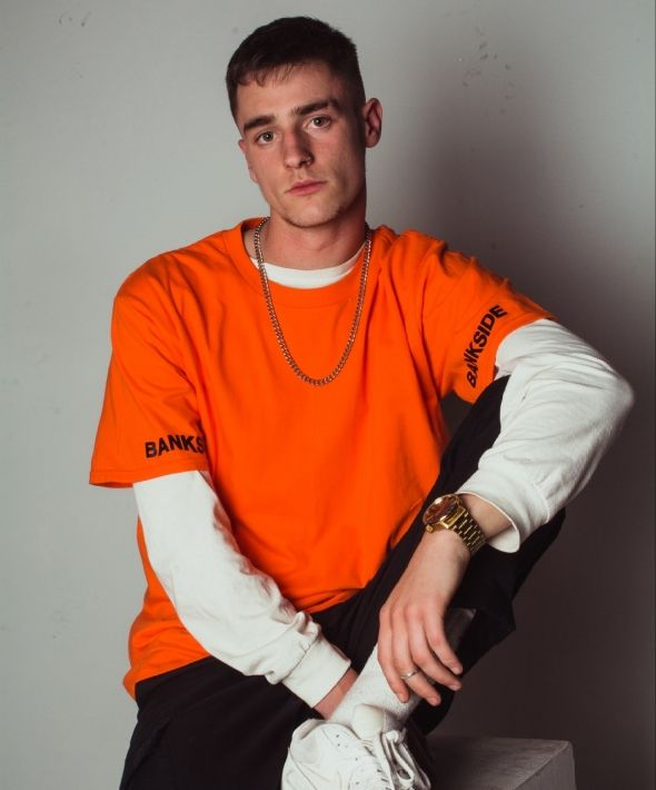 Wavy Sleeve T-shirt Orange