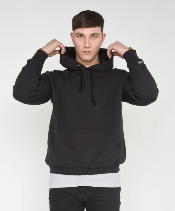PINNA Embroidered Hoodie - Black