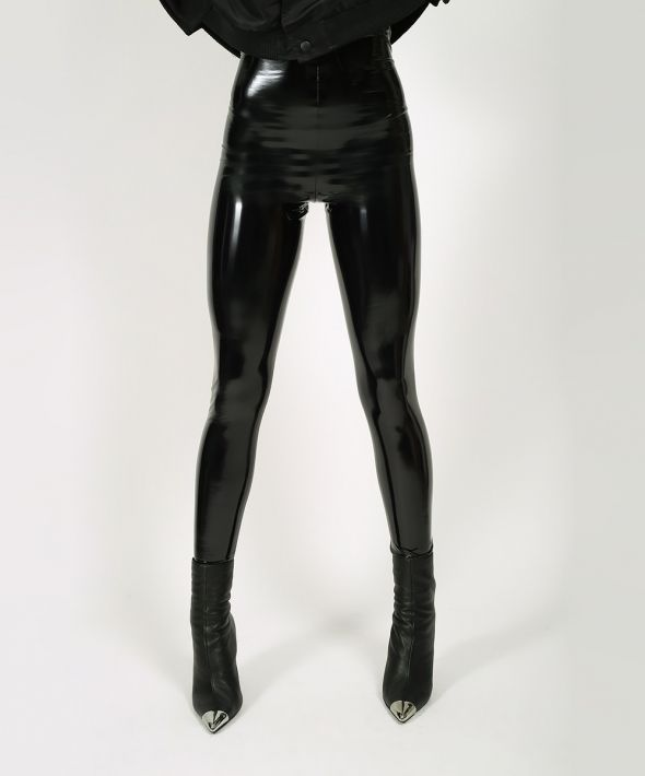 Black Shiny PVC Leggings