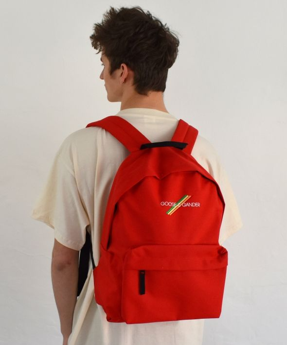 Red G&G Unisex Original Multi Lines Rucksack