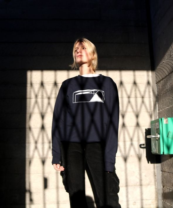 Dark Navy Building Blocks Sweatshirt
