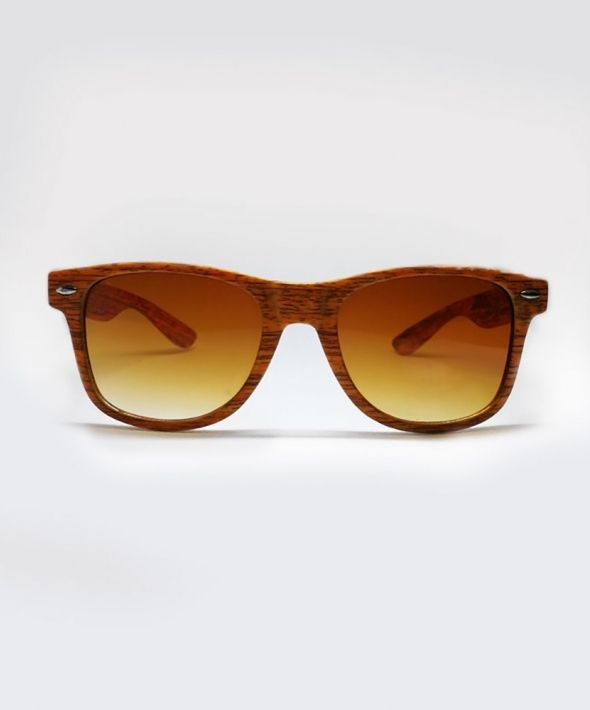 BUDDY Wood Effect Sunglasses - Tan