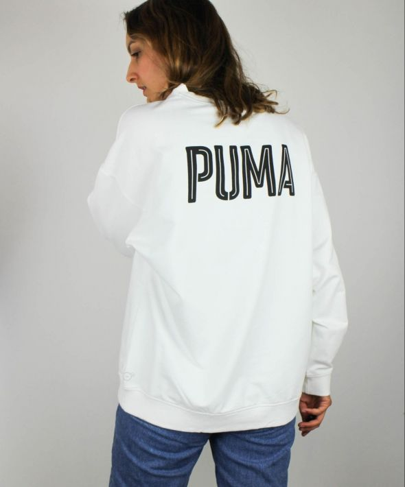 Vintage Puma Sweatshirt with Logo Front & Spell Out Back 4373196