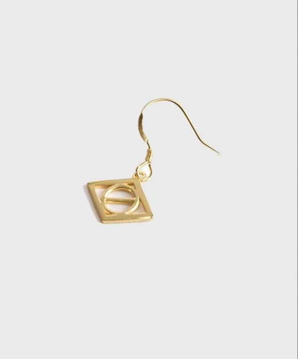 Gold Plated Silver Rio Hook Earring
