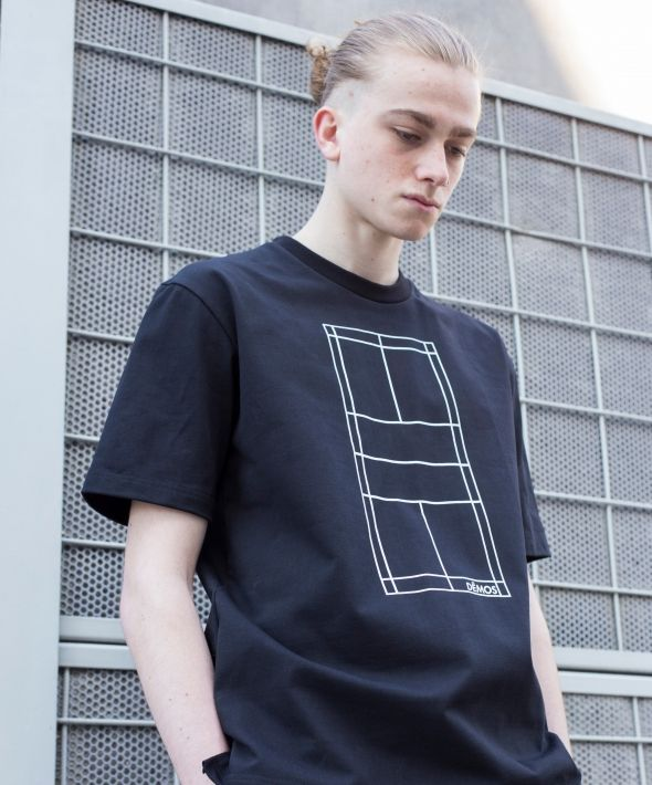 DÊMOS BLACK BADMINTON COURT TEE