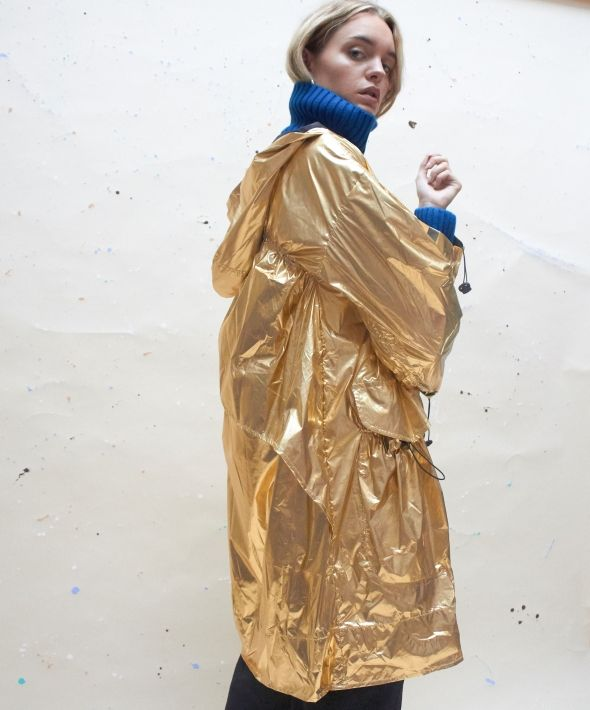 Limited Edition Parachute Parka in Antique Gold
